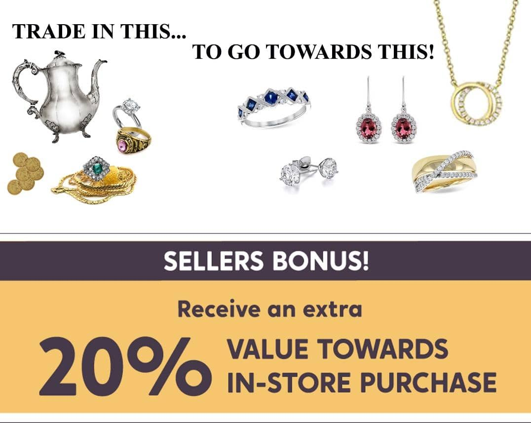 Sellers bonus! Receive an extra 30% towards in-store purchase